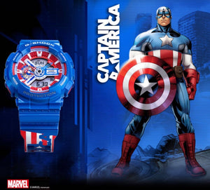 "Casio G SHOCK x ""AVENGERS ENDGAME"" GA-110CAPTAIN"