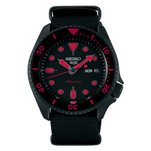 "Seiko 2019 Automatic 5 Series ""BLACK RED"" Model SRPD83K1"