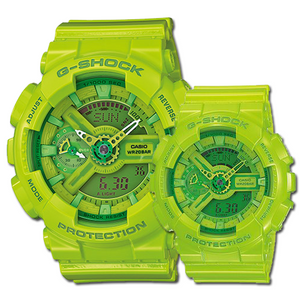 "Casio G SHOCK ""HYPER COLOR"" Series GA-110B (Green)"