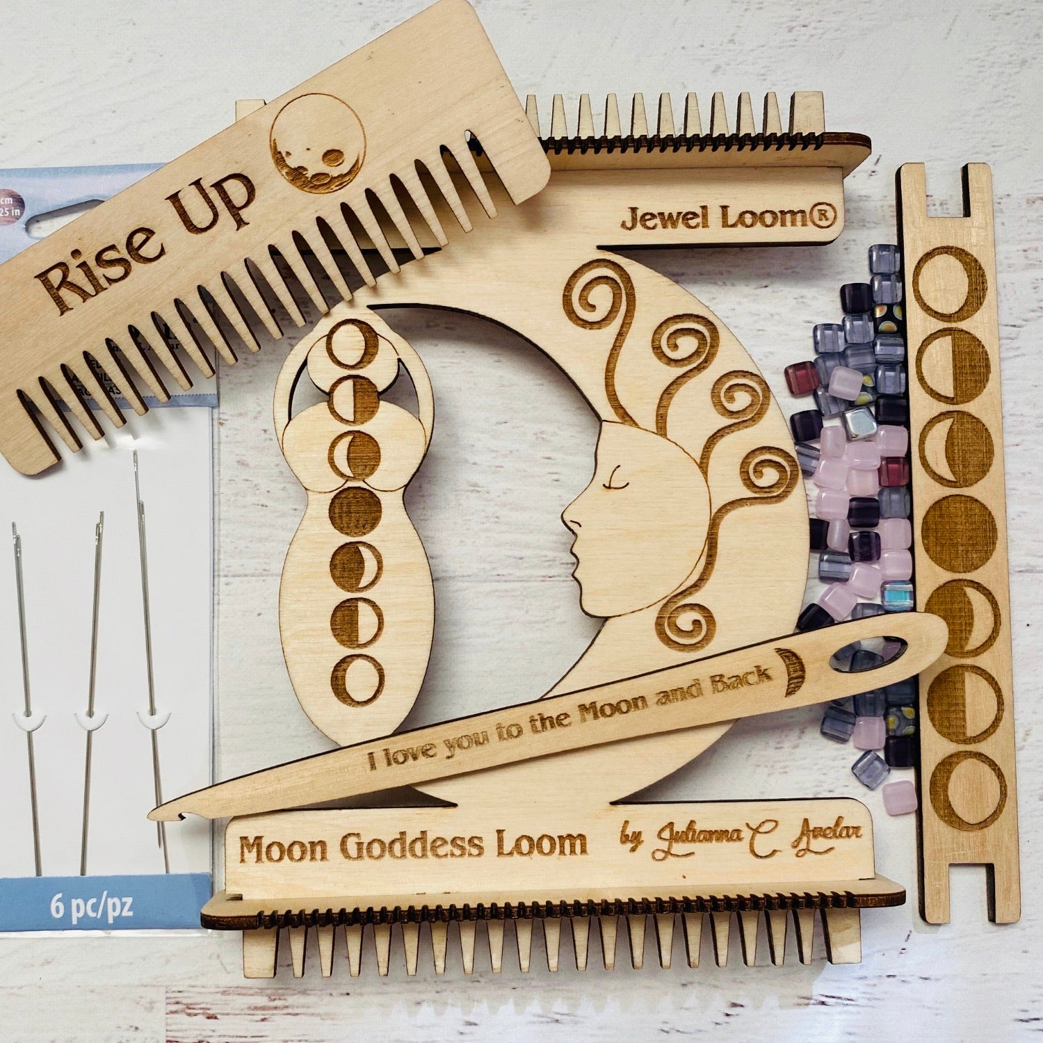 Weaving Loom Mini Moon Goddess™️ with Ring Bead Kit