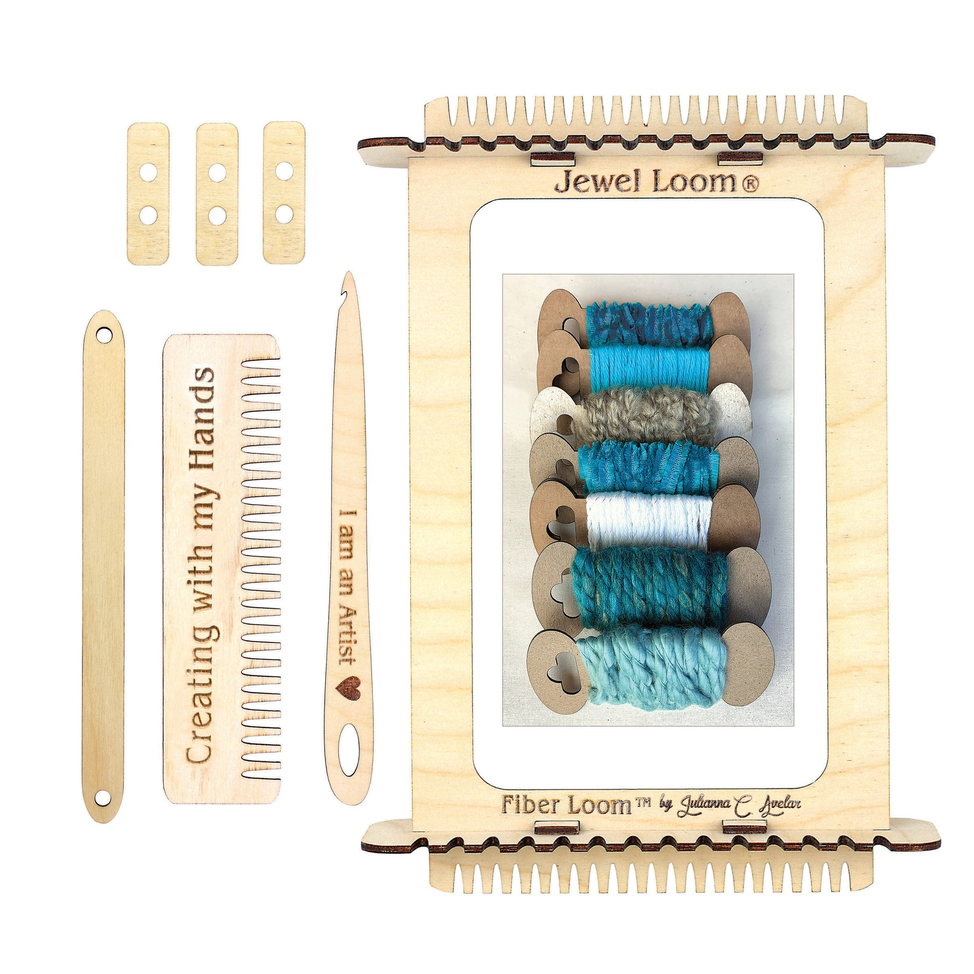Weaving Loom Fiber Loom with Yarn Kit