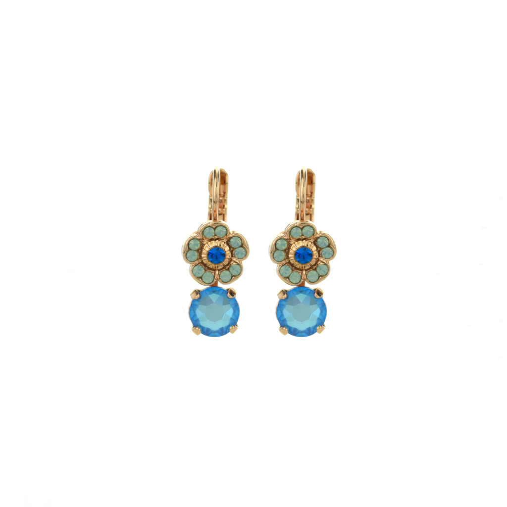 "Cosmos Round Dangle Leverback Earrings in ""Serenity"" *Preorder*"