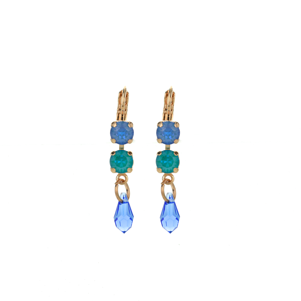 "Two Stone Dangle Leverback Earrings in ""Serenity"" *Preorder*"