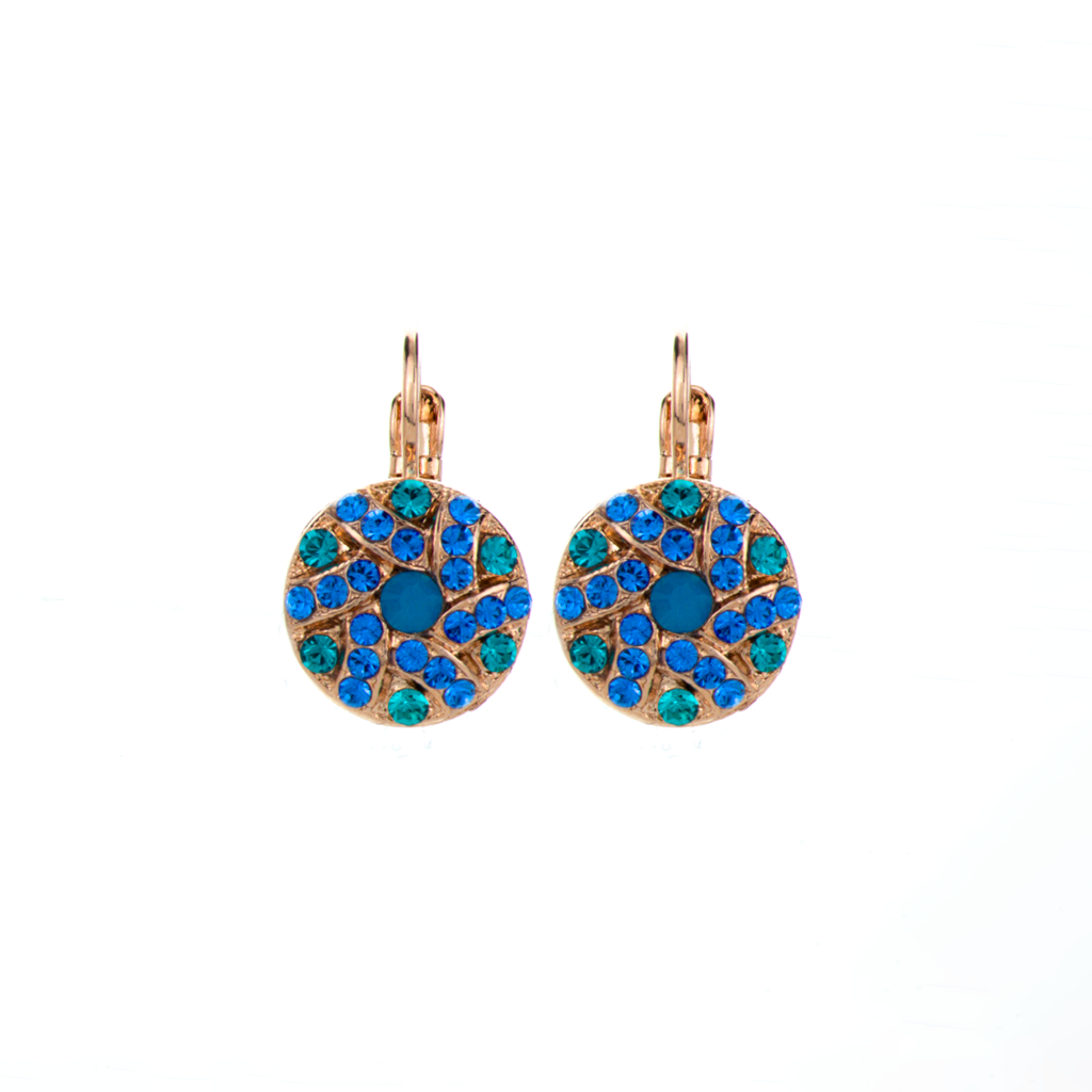 "Swirl Pave Cluster Leverback Earrings in ""Serenity"" *Preorder*"