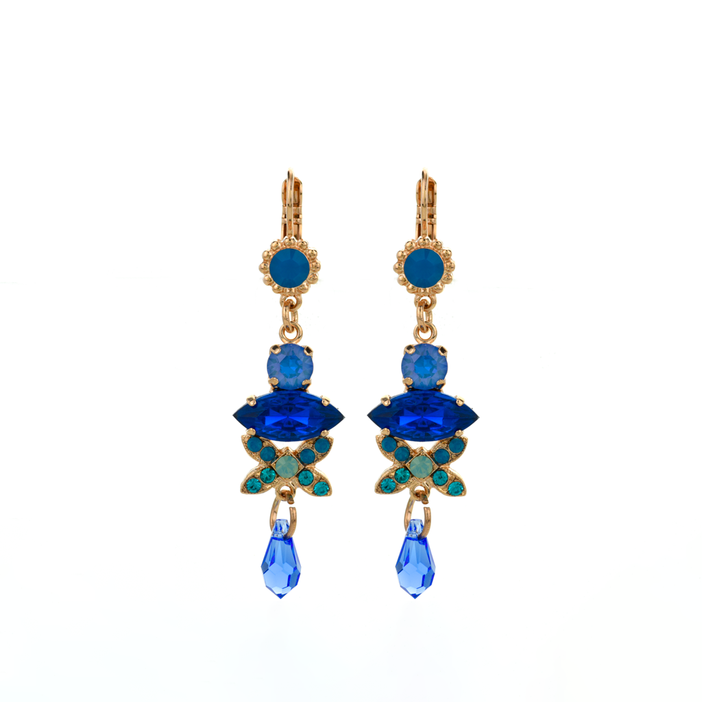 "Marquise Long Dangle Leverback Earrings in ""Serenity"" *Preorder*"