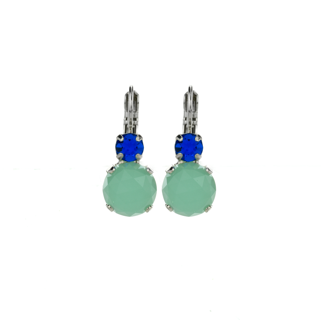 "Lovable Double Stone Leverback Earrings in ""Serenity"" *Preorder*"