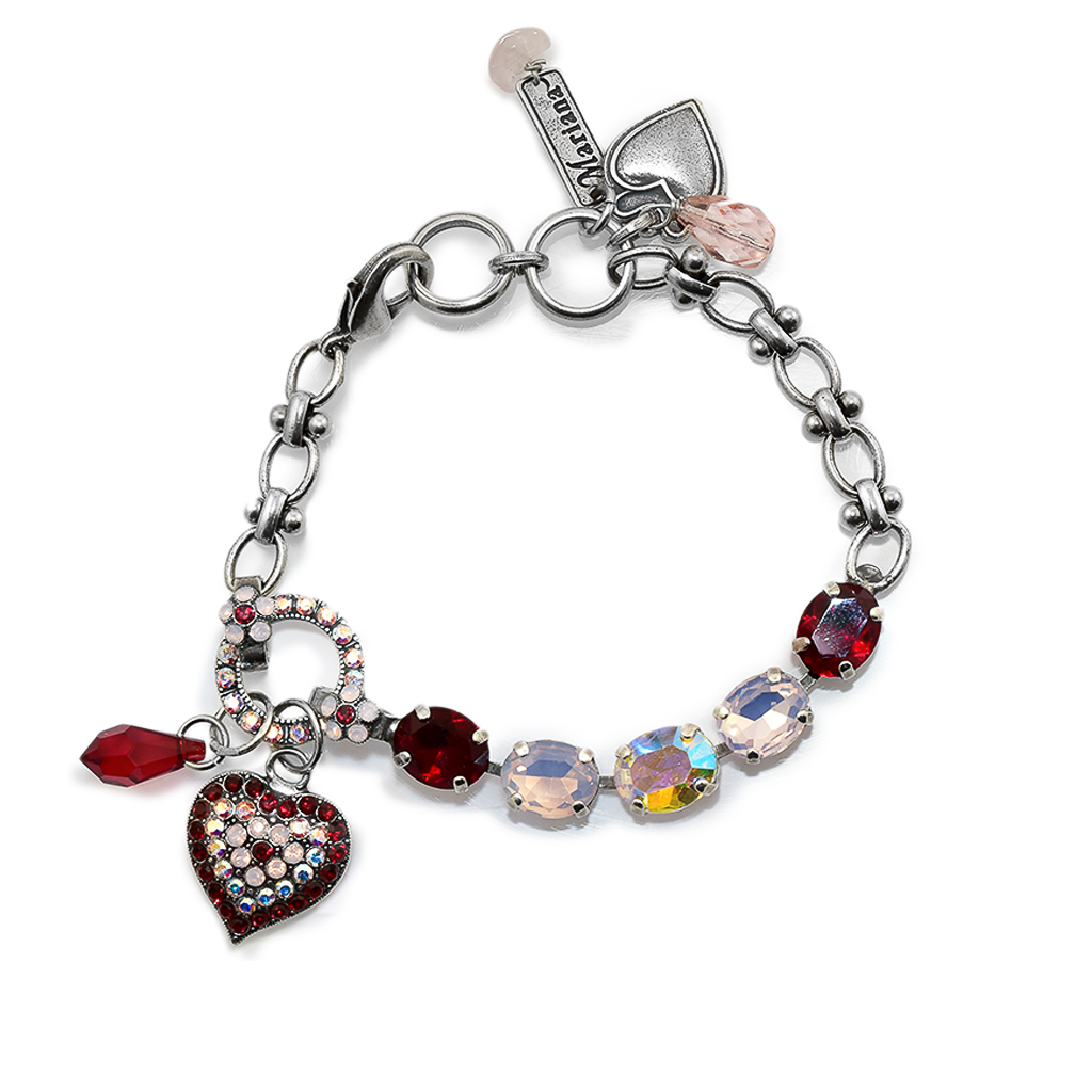 "Oval and Heart Bracelet in ""True Romance"" *Preorder*"