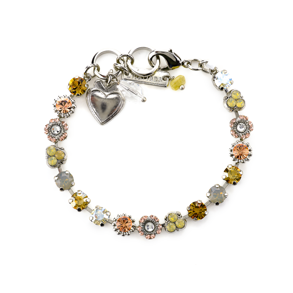 "Petite Flower and Cluster Bracelet in ""Peace"" *Preorder*"