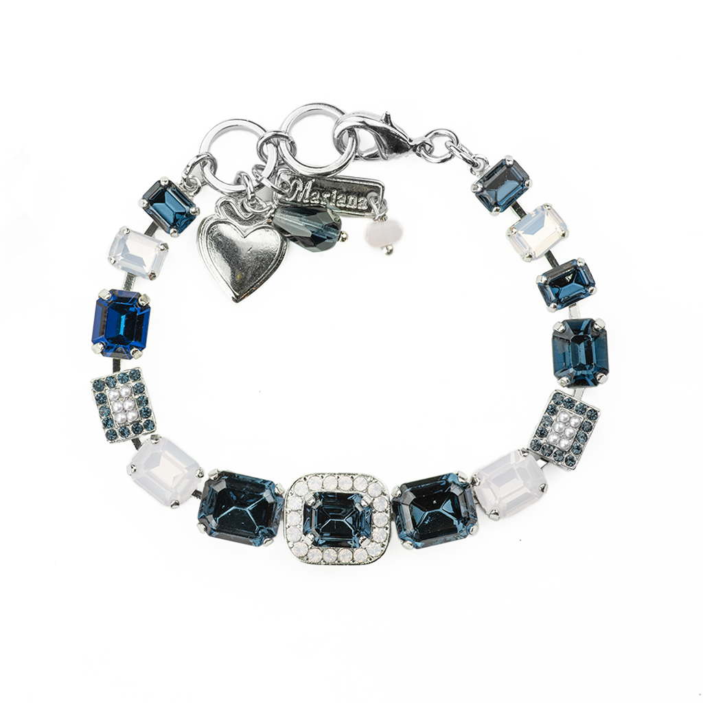 "Emerald Cut Bracelet in ""Blue Morpho"" *Preorder*"