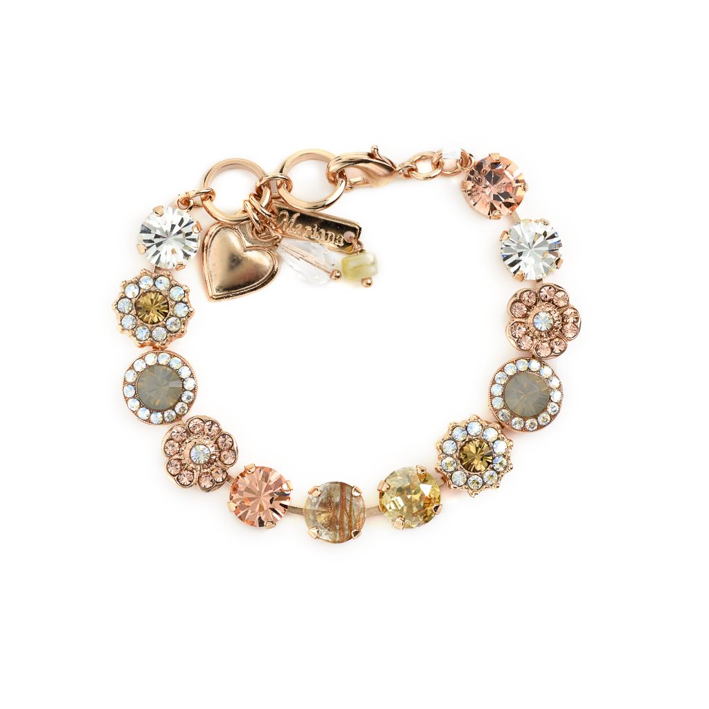"Lovable Rosette Bracelet in ""Peace"" - Rose Gold"