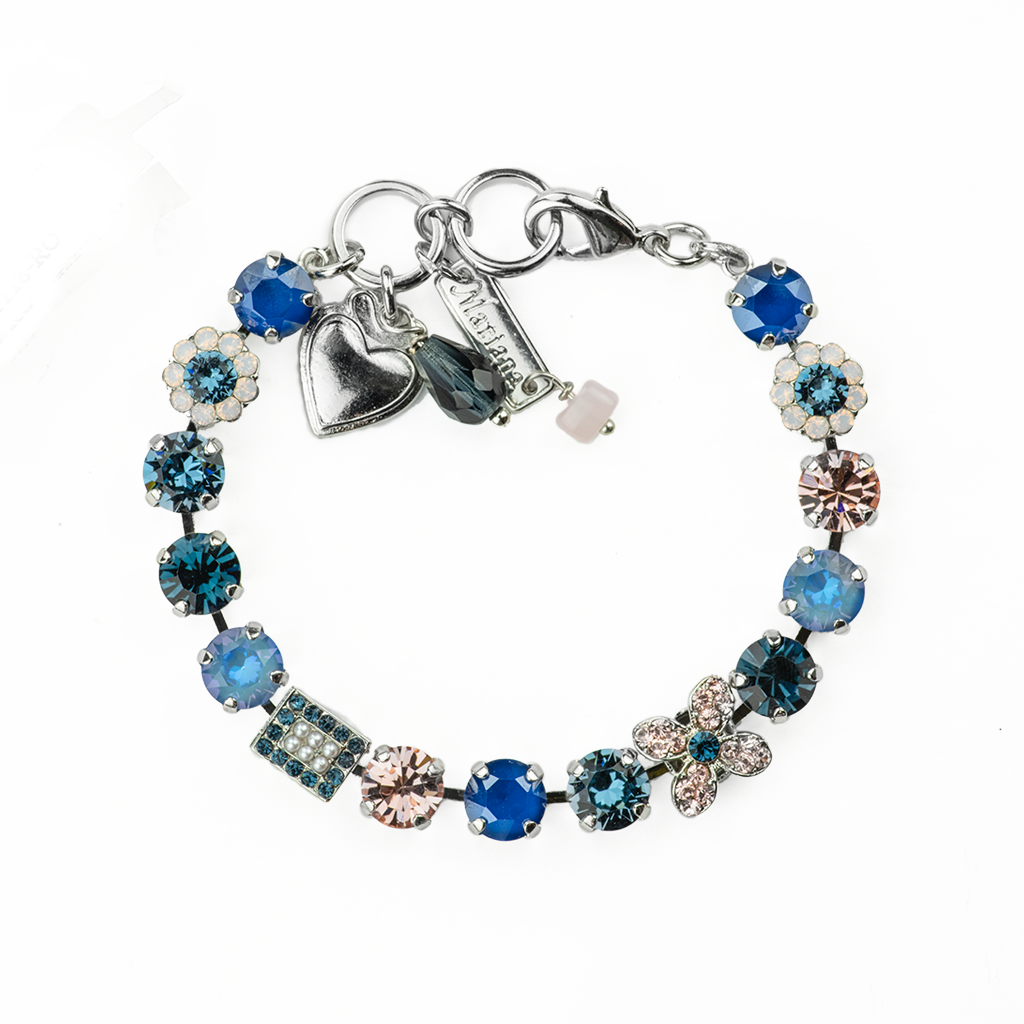 "Must-Have Square and Flower Bracelet in ""Blue Morpho"" *Preorder*"