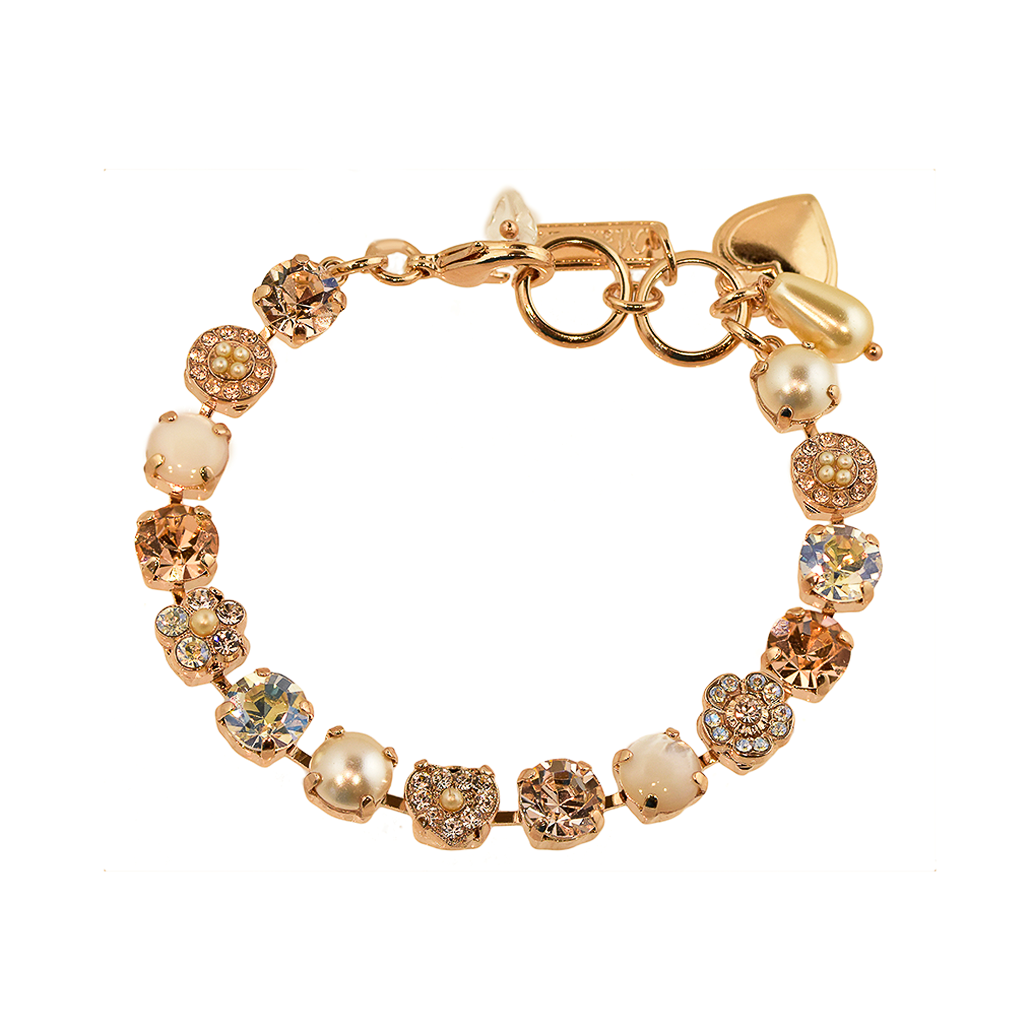 "Must-Have Rosette and Heart Bracelet in ""Barbados"" *Preorder*"