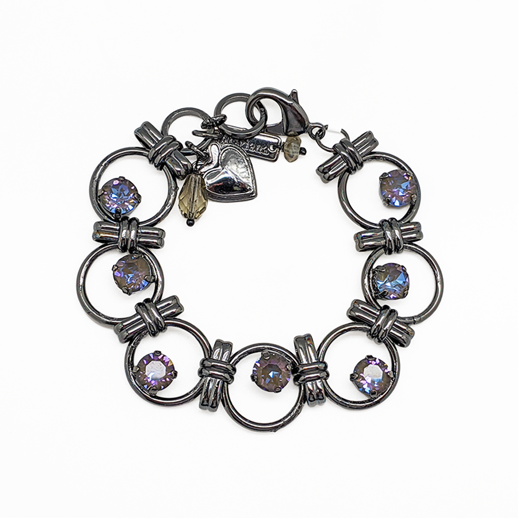 "Must-Have Round Chain Link Bracelet in Sun-Kissed ""Midnight"" *Preorder*"