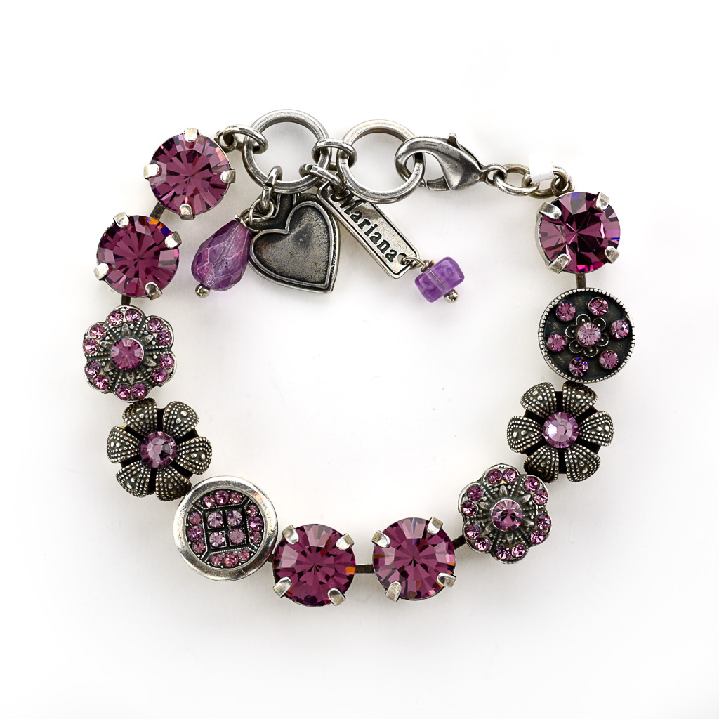 "Lovable Adorned Bracelet in ""Antiqued Purple"" *Preorder*"
