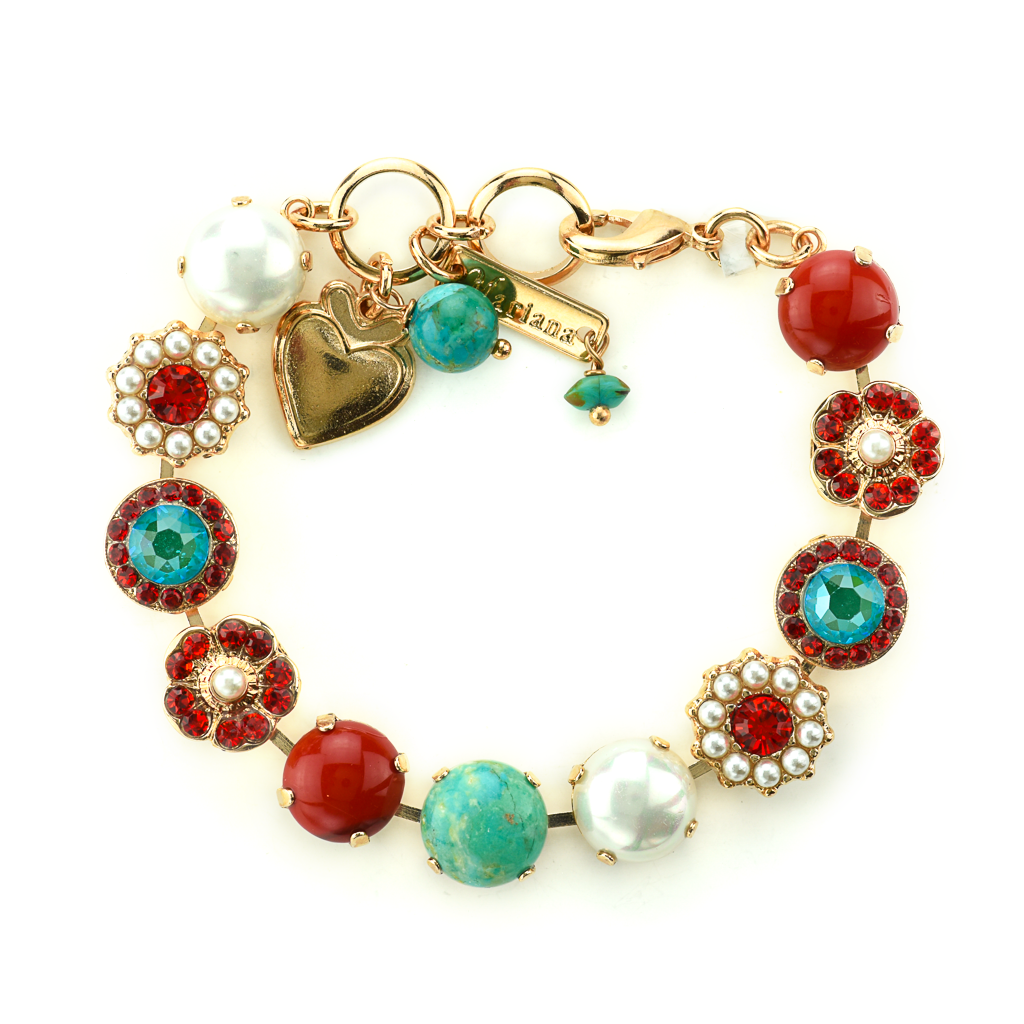 "Lovable Rosette Bracelet in ""Happiness-Turquoise"" *Preorder*"
