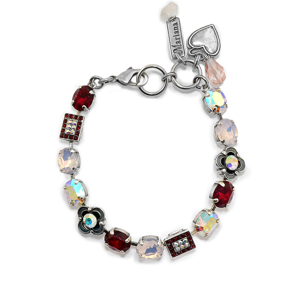 "Oval and Square Cluster Bracelet in ""True Romance *Preorder*"