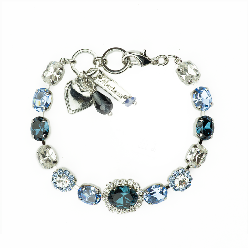 "Oval Bracelet with Center Oval Cluster in ""Night Sky"" *Preorder*"