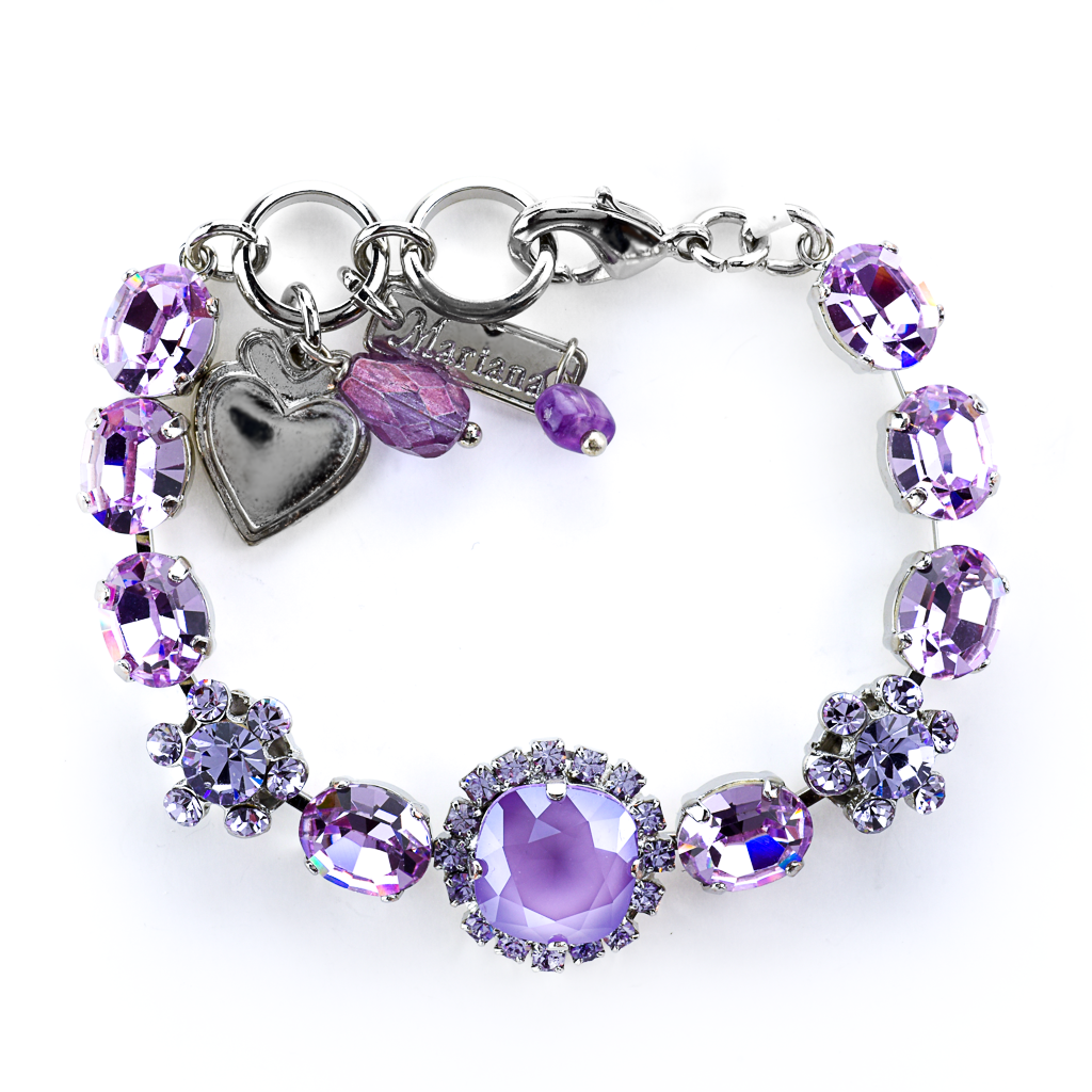 "Oval and Cushion Cut Halo Bracelet in ""Violet"" *Preorder*"