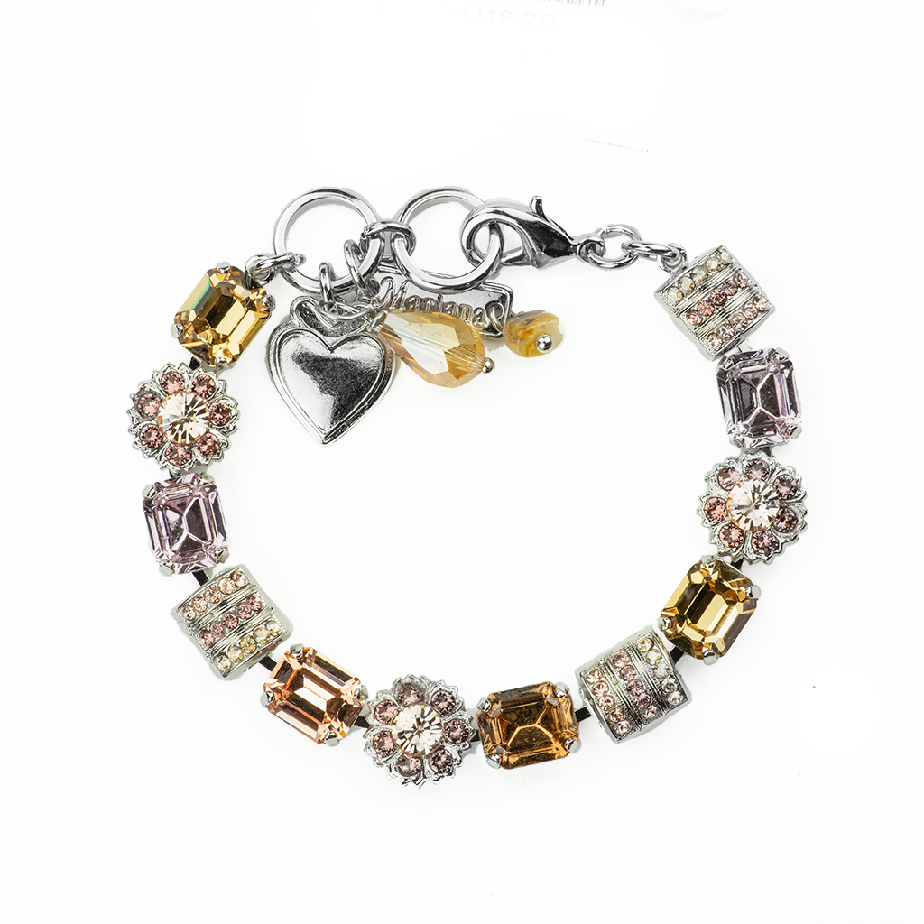 "Emerald Cut Rosette Bracelet in ""Meadow Brown"" *Preorder*"