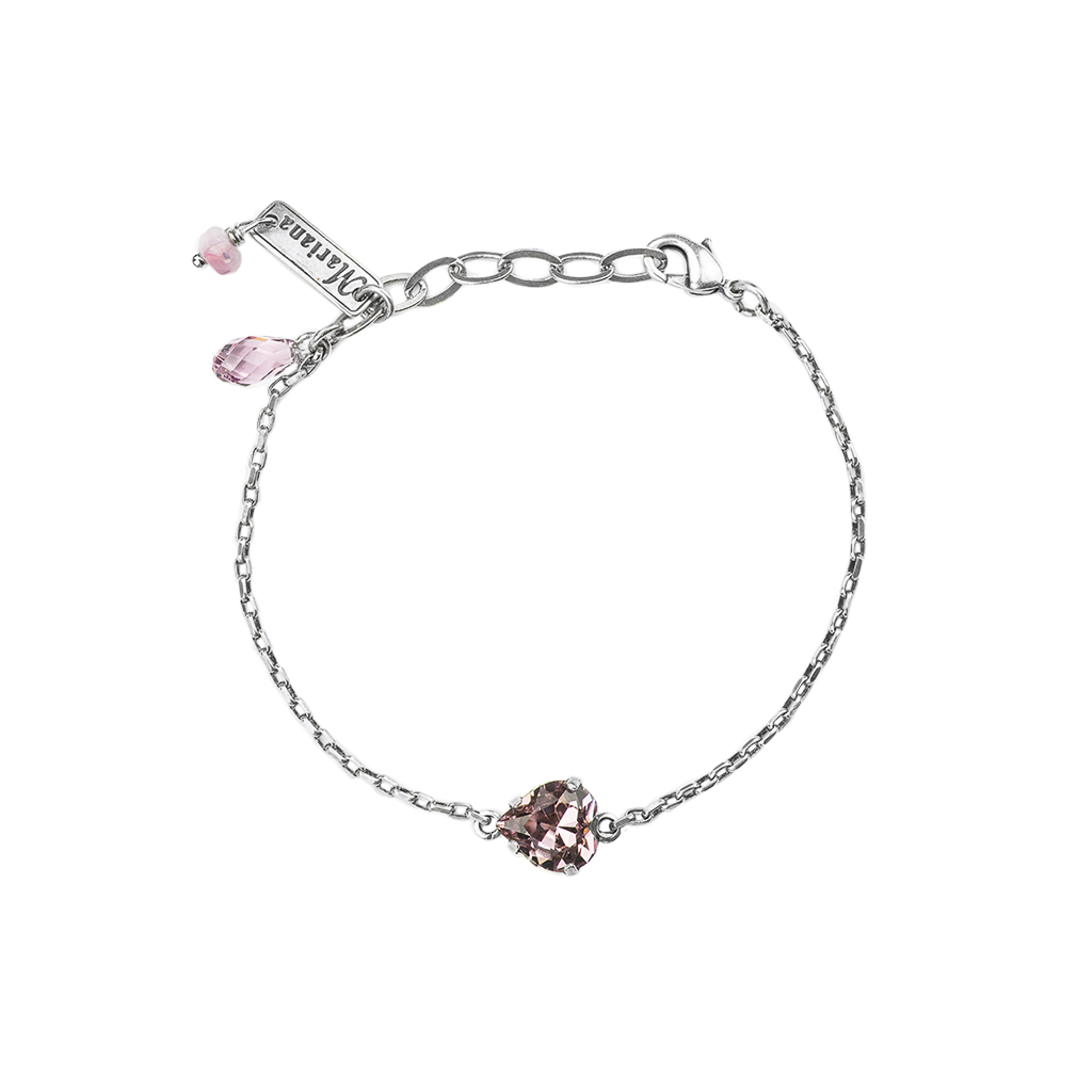 Heart Bracelet in Light Amethyst *Preorder*