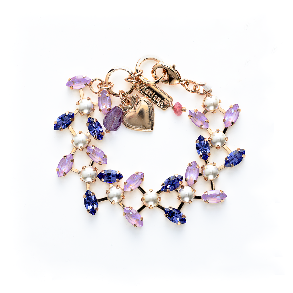 "Petite Double Marquise Row Bracelet in ""Romance"" *Preorder*"