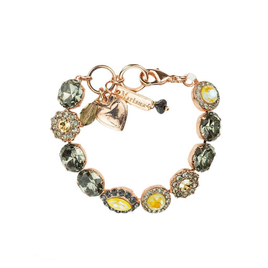 "Oval and Cluster Bracelet in ""Painted Lady"" *Preorder*"