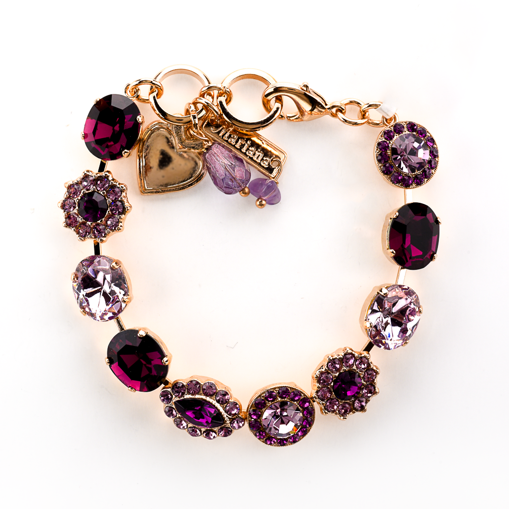 "Oval and Cluster Bracelet in ""Amethyst"" *Preorder*"