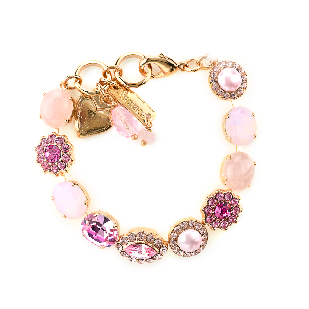 "Oval and Cluster Bracelet in ""Love"" *Preorder*"