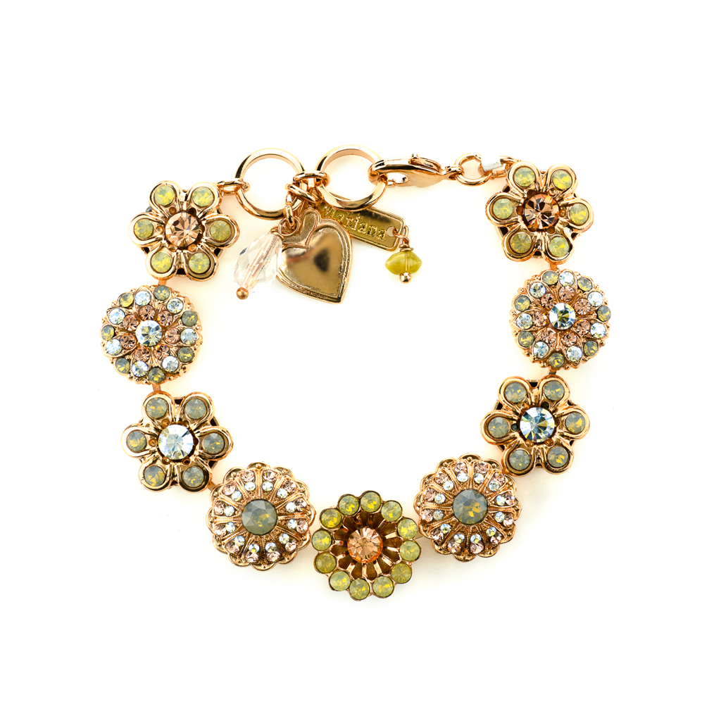 "Extra Luxurious Rosette Bracelet in ""Peace"" *Preorder*"