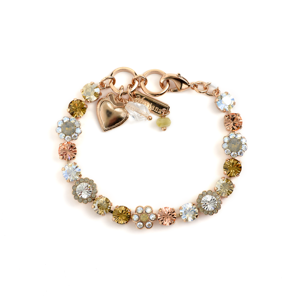 "Must-Have Flower Bracelet in ""Peace"" - Rose Gold"