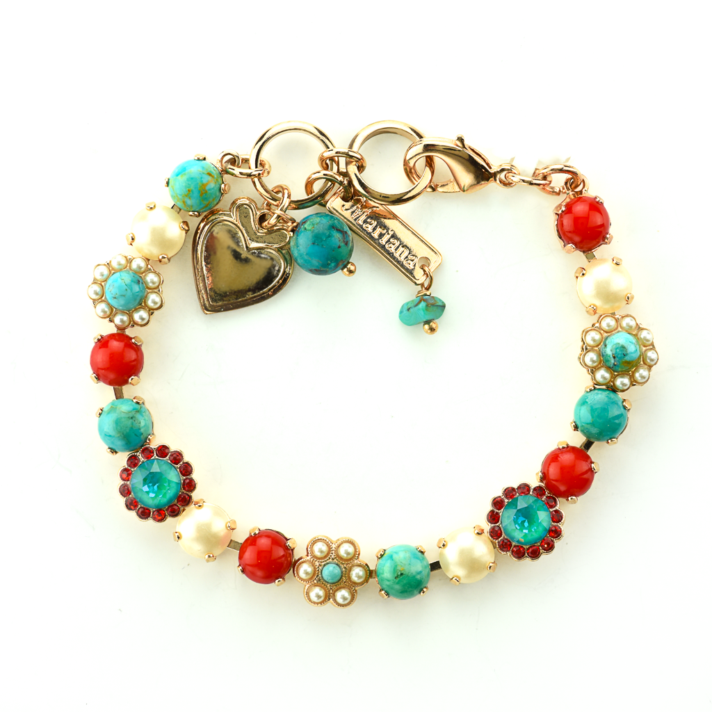 "Must-Have Flower Bracelet in ""Happiness-Turquoise"" *Preorder*"