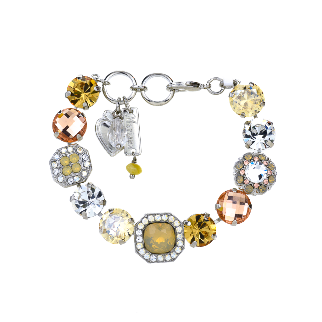 "Lovable Square Cluster Bracelet in ""Peace"" *Preorder*"