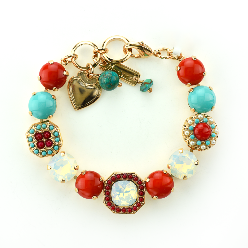 "Lovable Square Cluster Bracelet in ""Happiness"" *Preorder*"