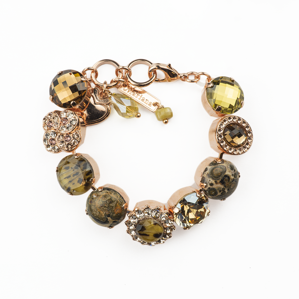 "Extra Luxurious Cluster Bracelet in ""Meadow Brown"" *Preorder*"