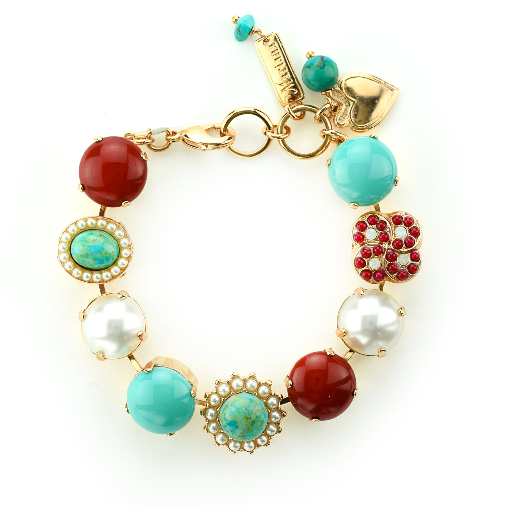 "Extra Luxurious Cluster Bracelet in ""Happiness-Turquoise"" *Preorder*"