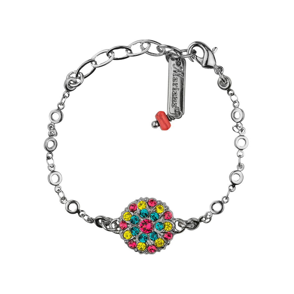 "Guardian Angel Bracelet ""Poppy""- Rhodium"