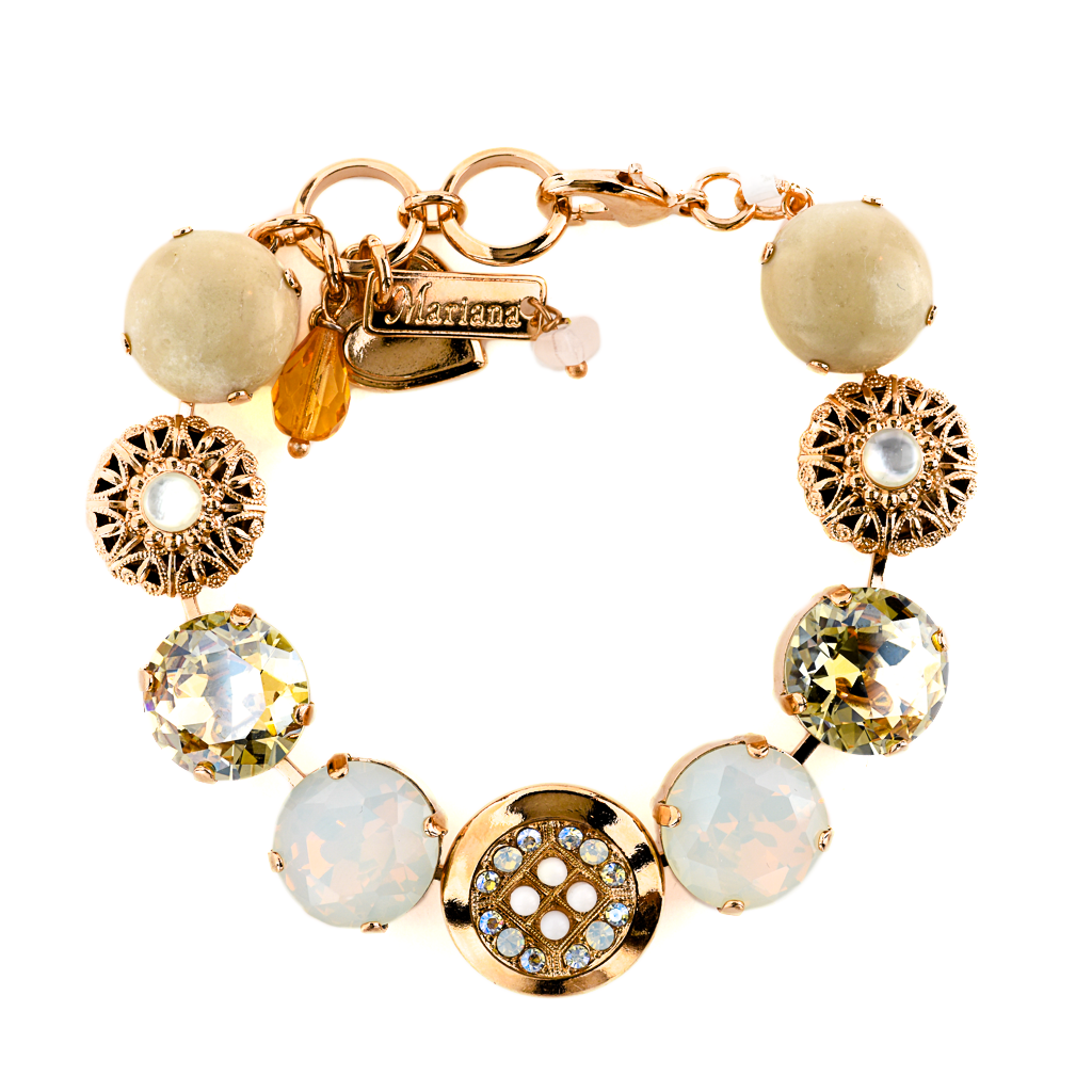 "Extra Luxurious Cluster and Filigree Bracelet in ""Kalahari"" *Preorder*"