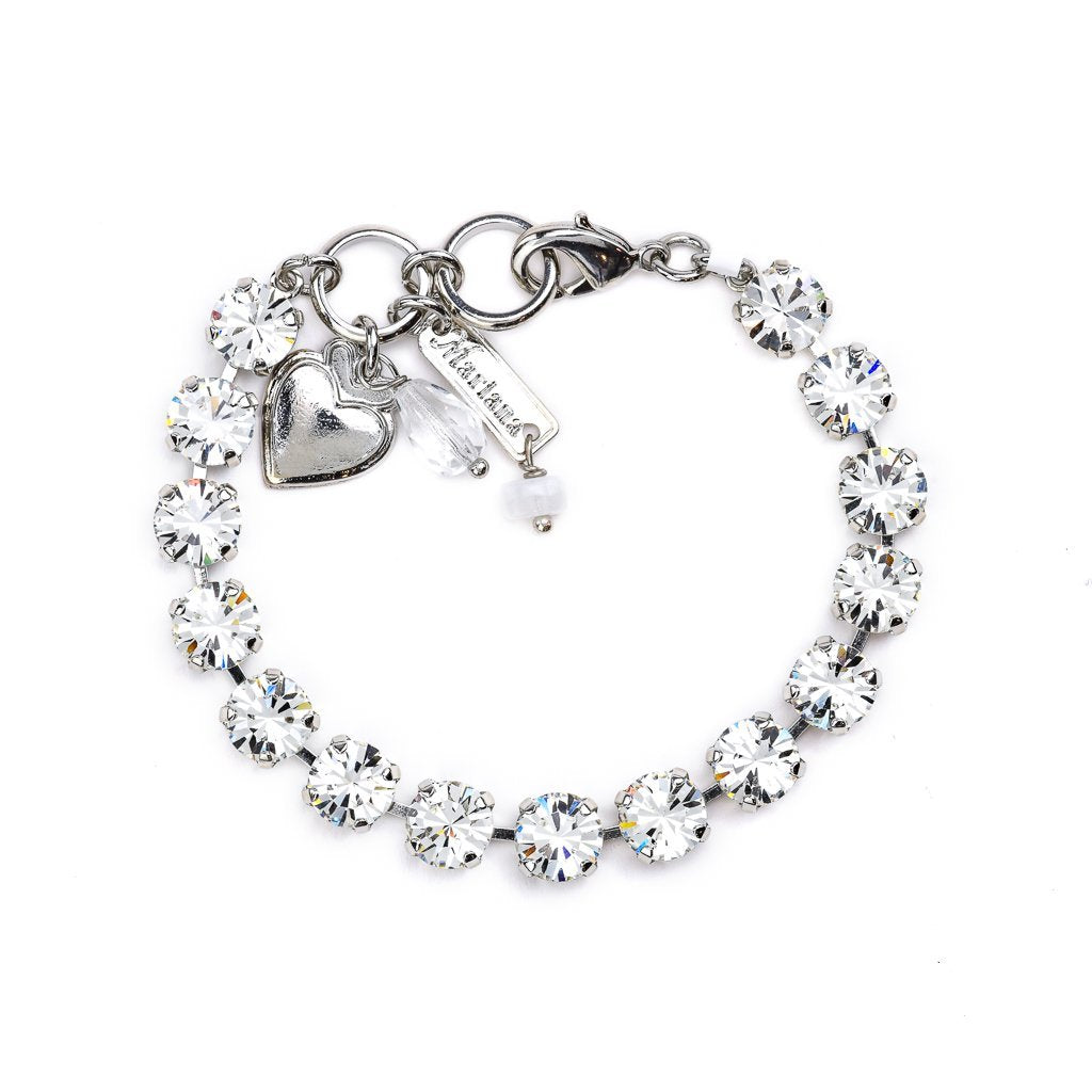 Must-Have Everyday Bracelet in Clear - Rhodium