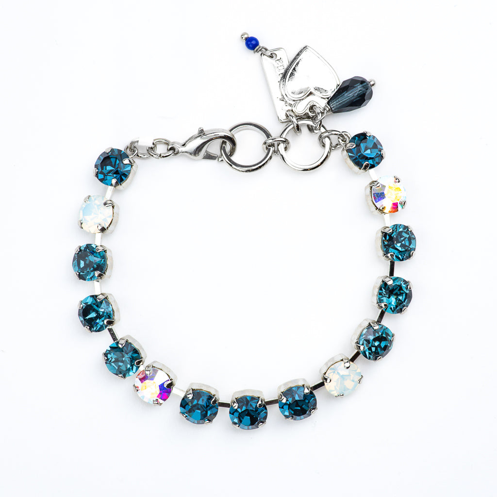 "Must-Have Everyday Bracelet ""Mood Indigo"" - Rhodium"