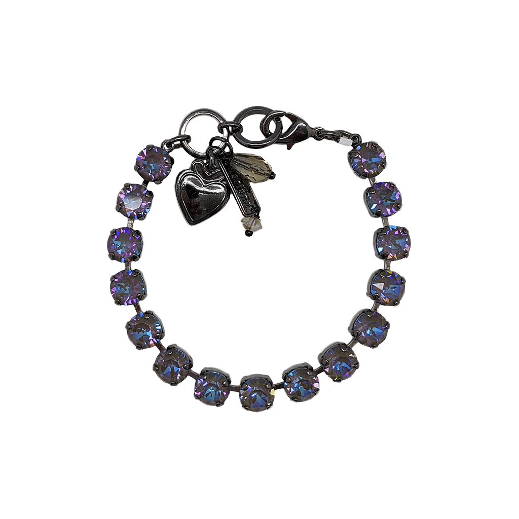 "Must-Have Everyday Bracelet in Sun-Kissed ""Midnight"" - Gray Plating"