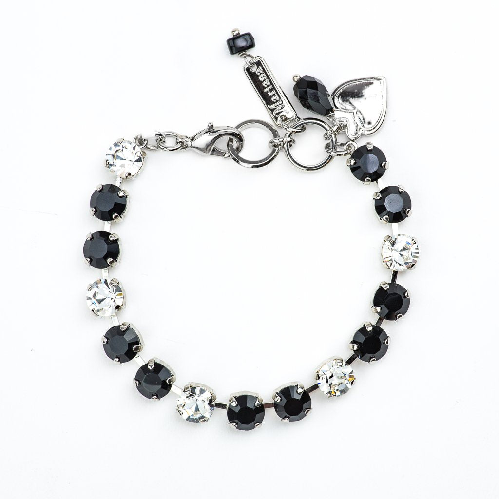 "Must-Have Everyday Bracelet in ""Checkmate"" - Rhodium"