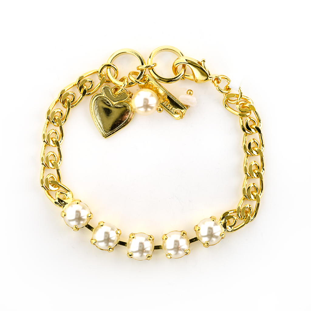 "Must-Have Five Stone Bracelet in ""Cream Pearl"" *Preorder*"