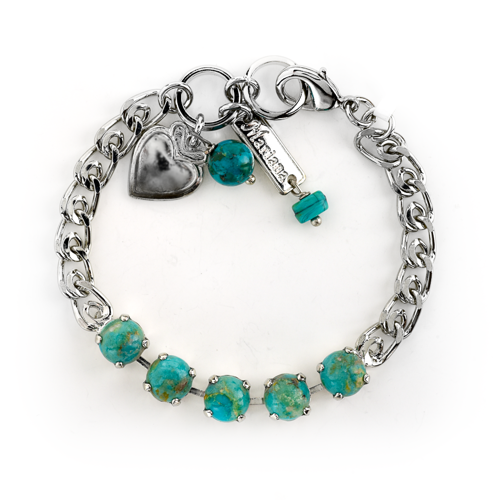 "Must-Have Five Stone Bracelet in ""Natural Turquoise"" *Preorder*"