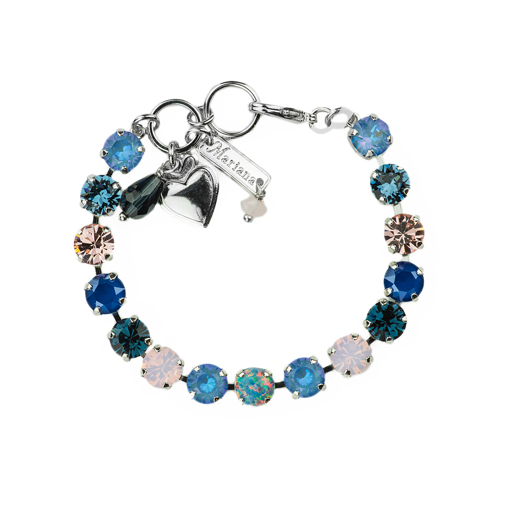 "*Preorder* Must-Have Everyday Bracelet with Synthetic Opal in ""Blue Morpho"""