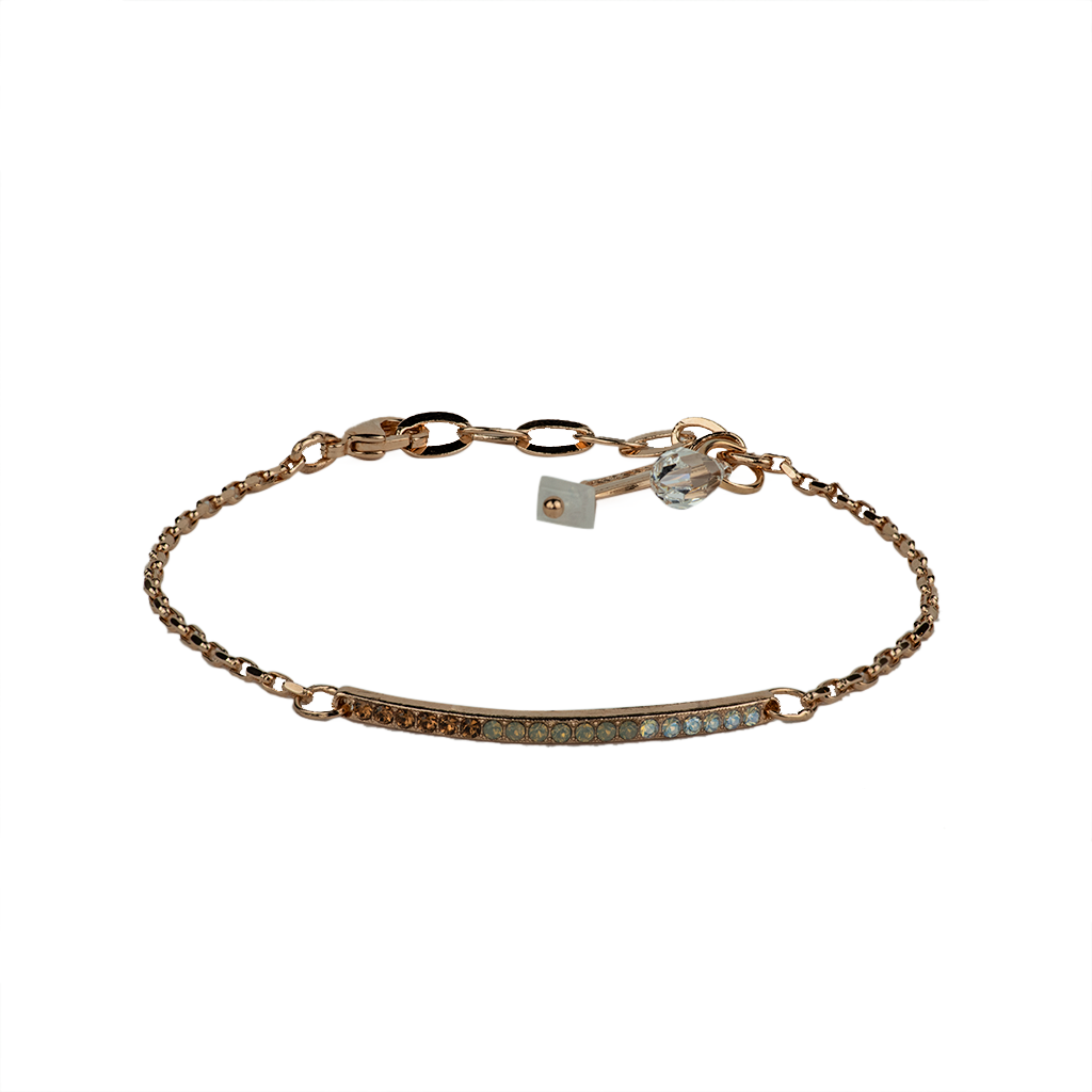 "[Rose Gold] Petite Stackable Bracelet ""Champagne & Caviar"""