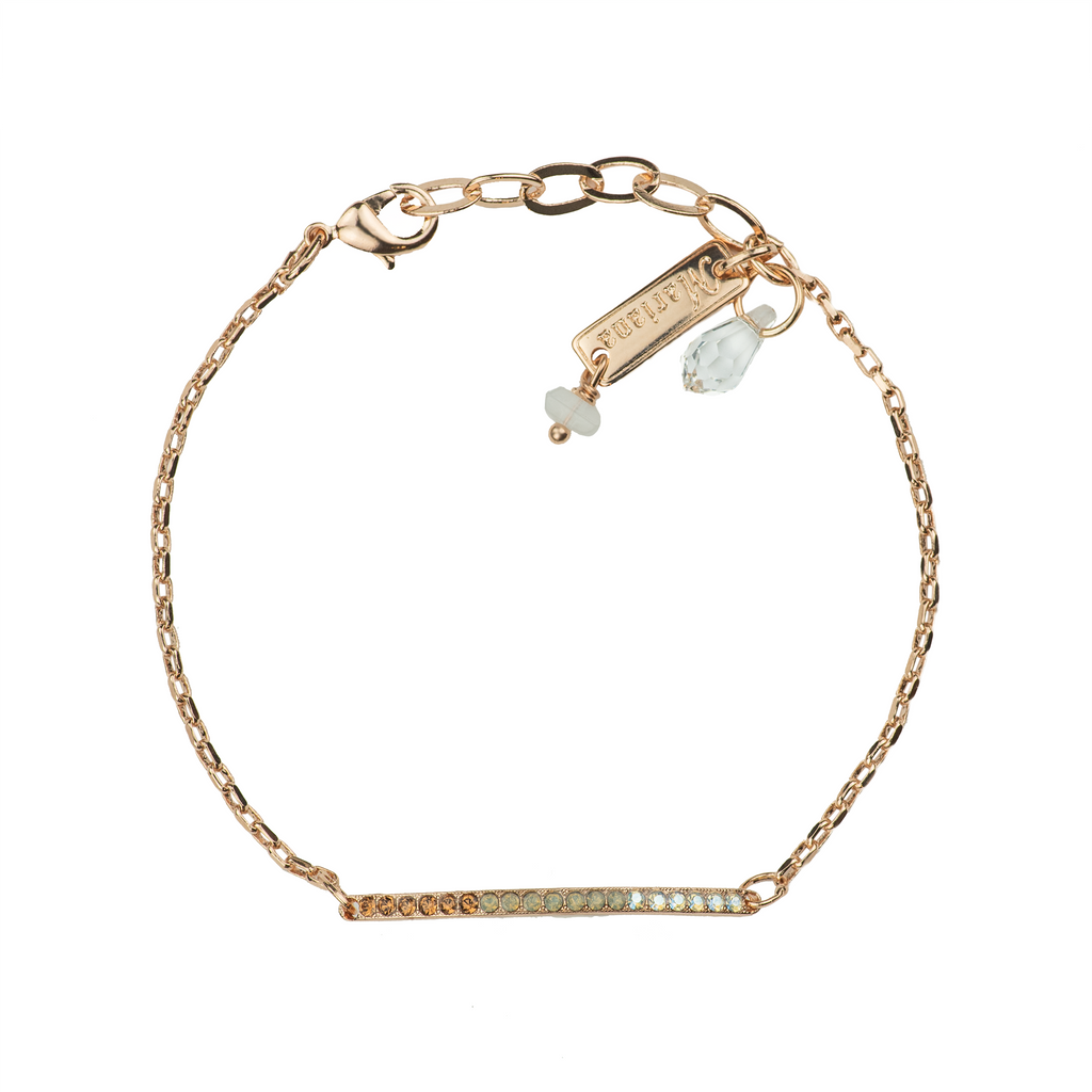 "Petite Stackable Bracelet ""Champagne & Caviar"" - Rose Gold"