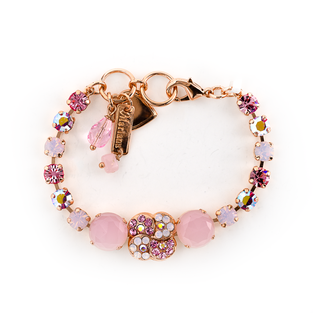 "Extra Luxurious Flower Bracelet in ""Pink Carnation"" *Preorder*"