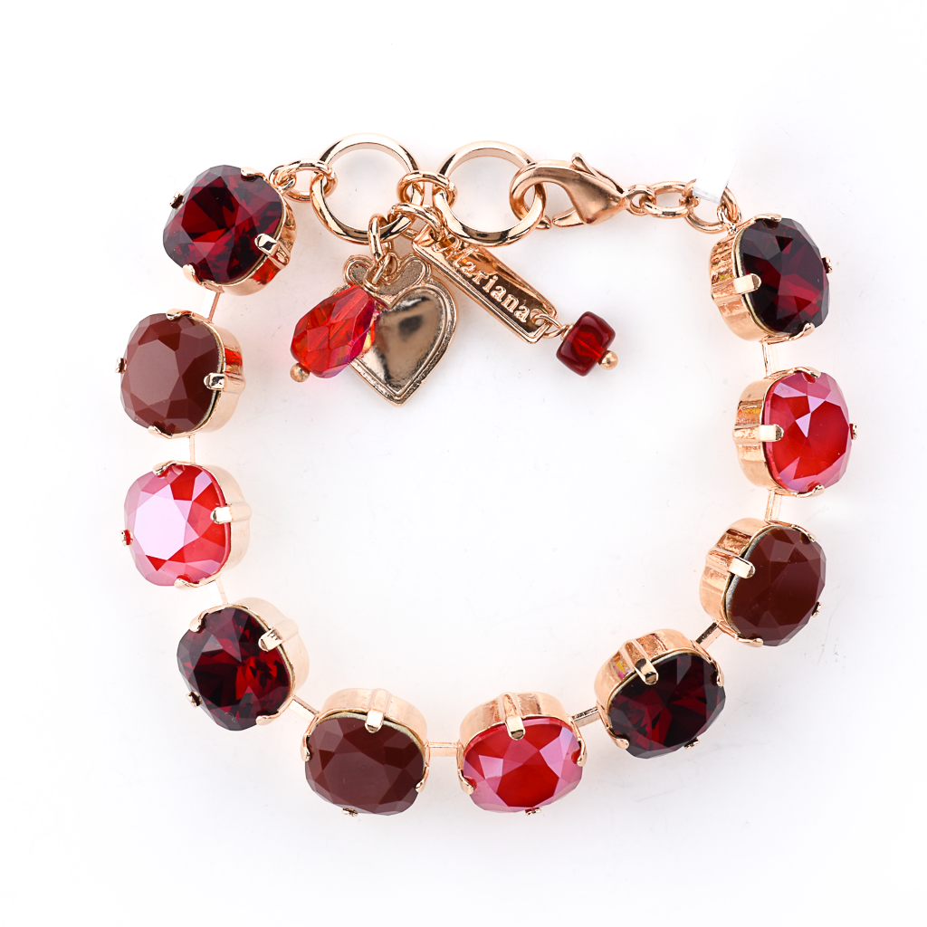 "Cushion Cut Bracelet in ""Merlot"" *Preorder*"