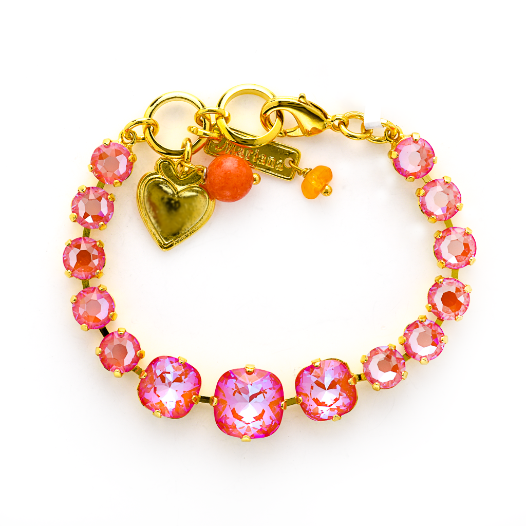 "Cushion Cut and Round Bracelet in Sun-Kissed ""Sunset"" *Preorder*"