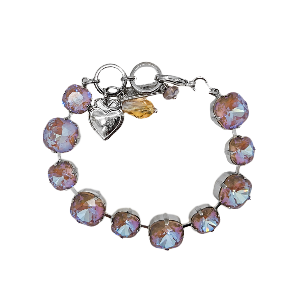 "Small and Large Cushion Cut Bracelet in Sun-Kissed ""Twilight"" *Preorder*"